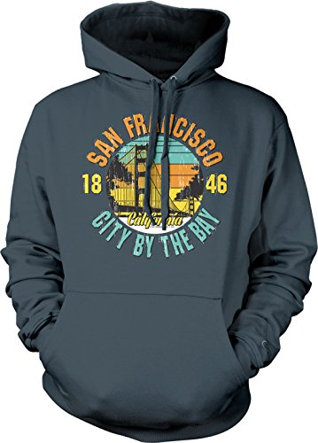 San Francisco, CA, City By The Bay, 1846 Hooded Sweatshirt, NOFO Clothing Co. S - San Street Francisco Beach