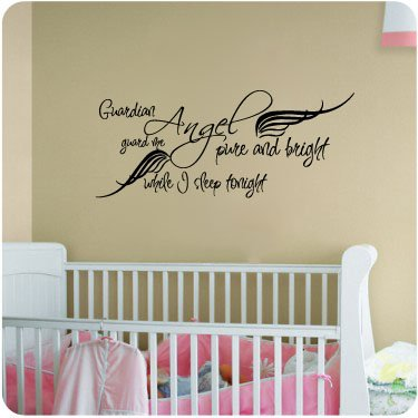 guardian angel pure and bright wall decal little boys or girls room