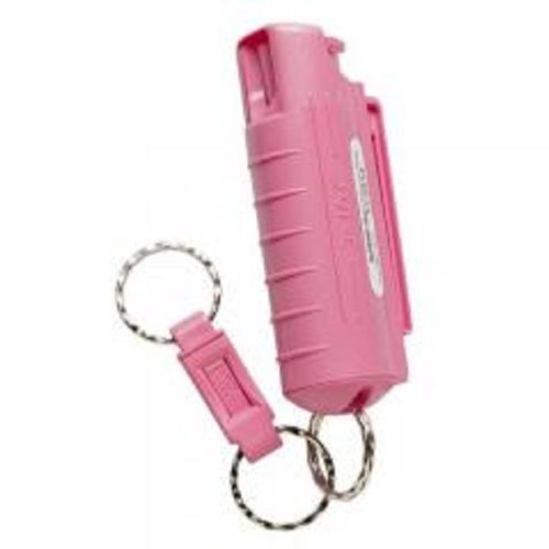 SABRE RED Campus Safety Pepper Gel - Pepper Spray for College Students- Pink Key Case with Quick Release