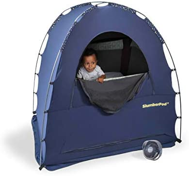Shut eyePod Privacy Pod for Babies and Toddlers: Blackout Dark Sleeping Space; Canopy Compatible with Graco Pack 'n Play, Lotus Travel Crib, Baby Bjorn