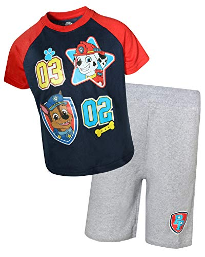 Nickelodeon Paw Patrol Boys Knit Short Set (Toddler Little Boys) (Marshall/Chase, 7)