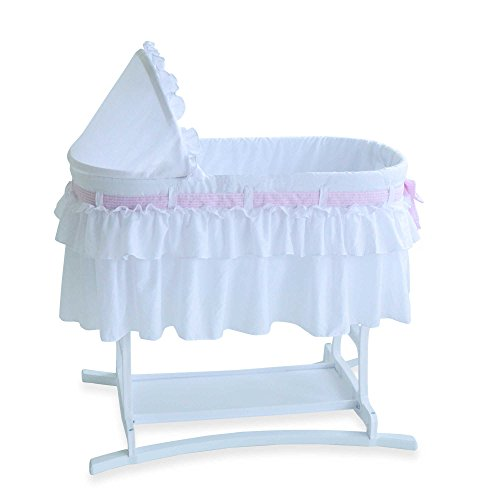 Lamont Home™ Good Night Baby Infant Bassinet in White wit...
