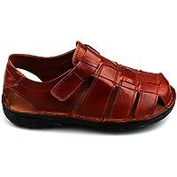 Föz%100 Deri Ortopedik Taban Günlük Comfort Erkek Sandalet