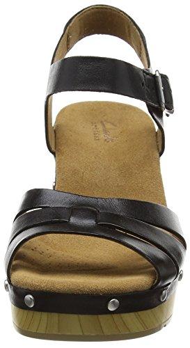 Clarks Ledella Trail - Zuecos Mujer Negro (Black Leather)