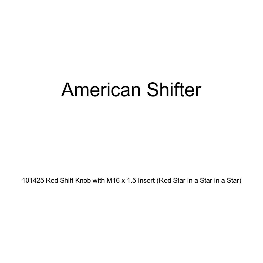 American Shifter 101425 Red Shift Knob with M16 x 1.5 Insert Red Star in a Star in a Star