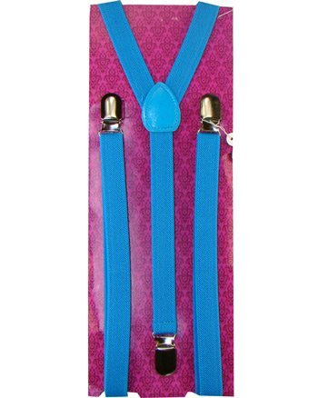 Outer Rebel Skinny Turquoise Blue Suspenders
