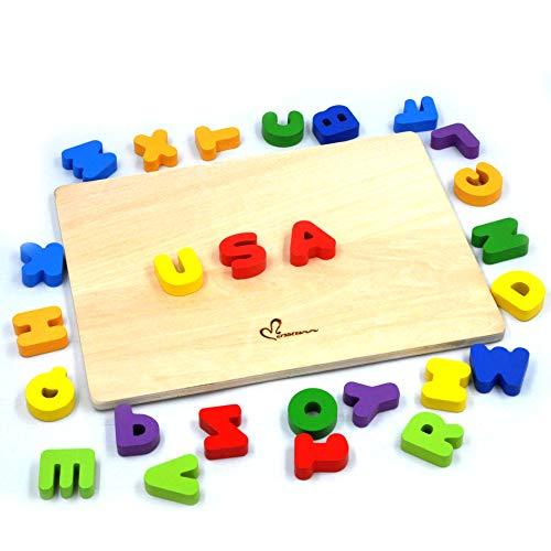 GYBBER&MUMU Alphabet Letters Wooden Puzzle Upper Case