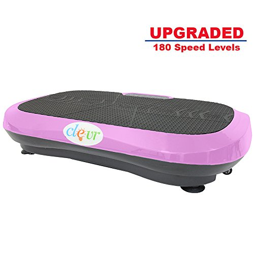 Clevr Ultraslim Pink Crazy Fit Full Body Vibration Platform Massage Machine MP3 Player by Clevr