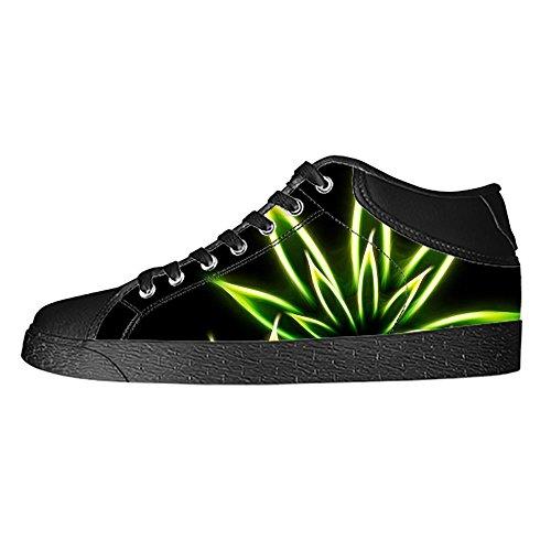 Custom Green Grass Womens Classic High Top Canvas Shoes Fashion Sneaker (Diego Shoe San Chargers Nike)