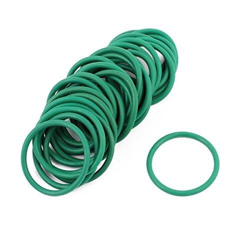 DealMux 30Pcs 24 mm x 1, 9 mm juntas tó ricas de goma NBR resistente al calor de sellado del anillo de pasahilos verde 9 mm juntas tóricas de goma NBR resistente al calor de sellado del anillo de pasahilos verde DLM-B01NAXBFLA
