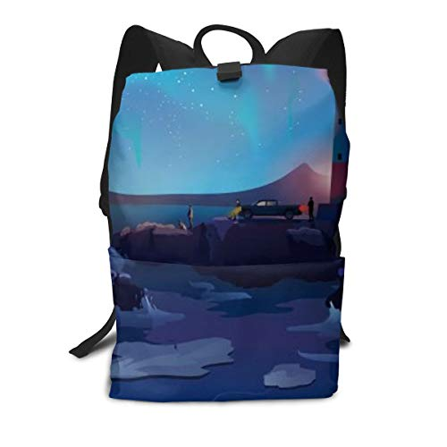 (Sea Light House Backpack Casual Dayback Travel Hiking College School For Boy Girl Adult Bag)