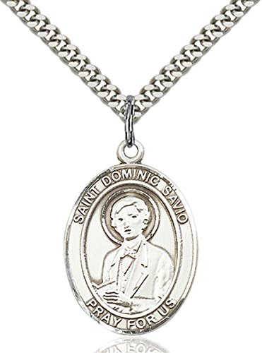 - bliss Sterling Silver Saint Dominic Savio Medal Pendant, 1 Inch