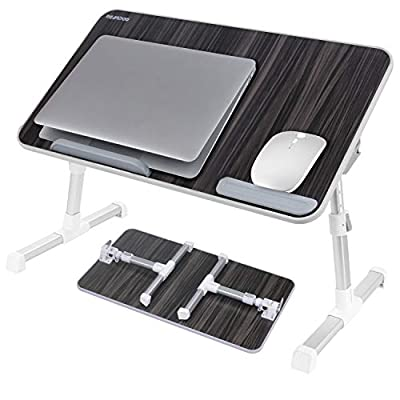 Laptop Bed Tray Table, Nearpow Adjustable Laptop Bed Stand, Portable Standing Table with Foldable Legs, Foldable Lap Tablet Table for Sofa Couch Floor