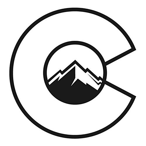 Colorado Flag C With Mountains Decal Vinyl Sticker|Cars Trucks Vans Walls Laptop| Black |5.5 x 5.25 in|CCI1261 (Rebel Die T-shirts Flag)