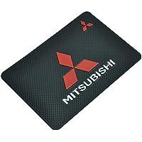 1pcs/set 20-13CM Car Logo Non-Slip Mat Dashboard Magic Sticky Mat Car Logo Non-Slip Mat Cell Phone Anti-Slip Pad For Mitsubishi