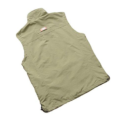 HYSENM ベスト ノースリーブ ジャケット 上着 男性 メンズ ファッション 速乾 裏メッシュ 耐磨耗性 ハイキング 旅行 登山 通勤 作業服 春 夏