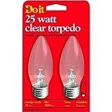 25 watt type b bulb - Do it B Type Torpedo Decorative Light Bulb