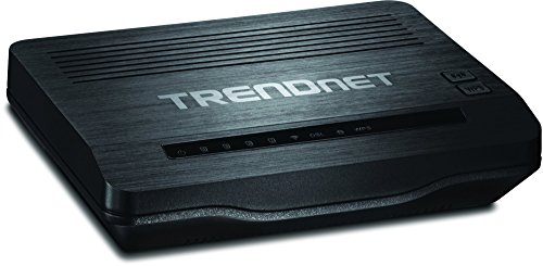 TRENDnet N300 Wireless ADSL 2+ Modem Router, Compatible with ADSL 2/2+ ISP Networks, 4 x 10/100 Mbps LAN Ports, 1 x RJ-11 WAN Port, TEW-722BRM (Renewed)