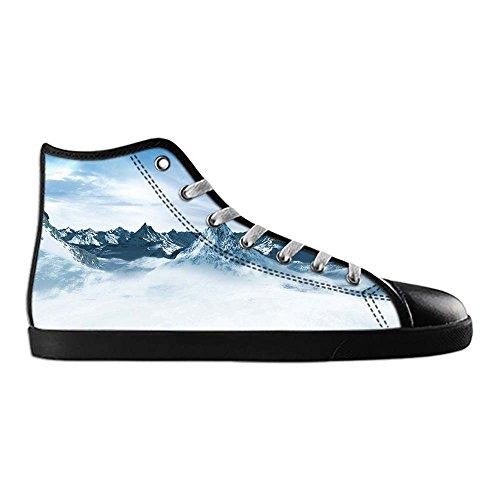 Dalliy schneebedeckte Berge Mens Canvas shoes Schuhe Lace-up High-top Sneakers Segeltuchschuhe Leinwand-Schuh-Turnschuhe C