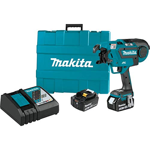 (Makita XRT01TK 18V LXT Lithium-Ion Brushless Cordless Rebar Tying Tool Kit (5.0Ah))
