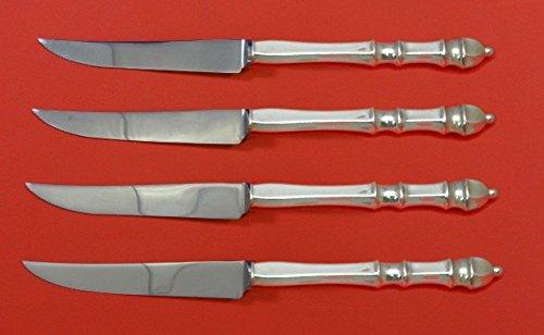 Sterling Silver Steak Knife - Carpenter Hall by Towle Sterling Silver Steak Knife Set 4pc HHWS Custom 8 1/2