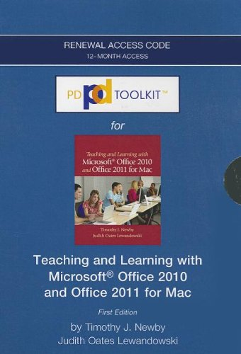 PDToolKit -- 12-month Extension Standalone Access Card (CS Only) -- for Teaching and Learning with Microsoft Office 2010 and Office 2011 for Mac (PD Toolkit (Access Codes))