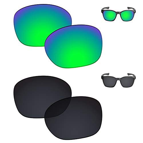 (Galvanic Replacement Lenses for Oakley Garage Rock Sunglasses - Jade + Black Polarized - Combo Pack )