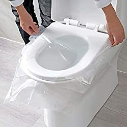 Alelife 50pcs Universal Toilet Disposable Sticker Toilet Seat Cover Business Travel Stool