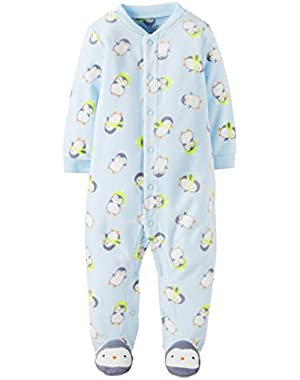 Carter's Just One You Baby Boys Fleece Penguin Sleep 'n' Play