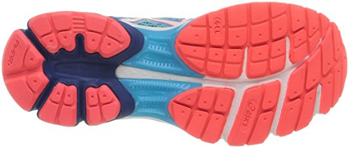 Asics Gel-Pulse 6, Damen Traillaufschuhe Blau (Türkis/Weiß/Electric Melon 4001)