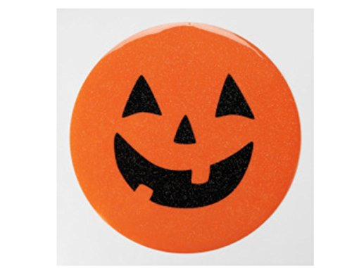Halloween Pumpkin Glitter Vinyl Placemat set