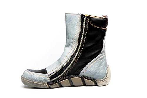 Eject Damen Schuhe Stiefel Boots schwarz grau used Look Herbst/Winter Leder