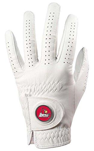 NCAA Louisville Cardinals磁気マーカーゴルフグローブ – ホワイト( Medium / Large )   B009WA1ESQ