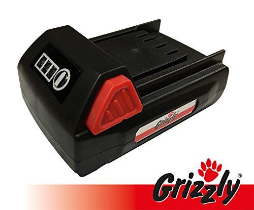 Grizzly batería 18 V, 1,5 Ah para podadora inalámbrica AKS ...