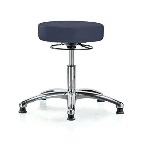 Perch Chrome 360-Degree Height Adjustable Swivel Stool Stationary Without Wheels for Massage Medical Office Shop or Home 18