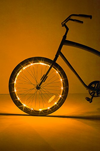 Brightz, Ltd. Wheel LED Bicycle Accessory Light (for 1 Wheel), Gold - Ltd Rear Wheel