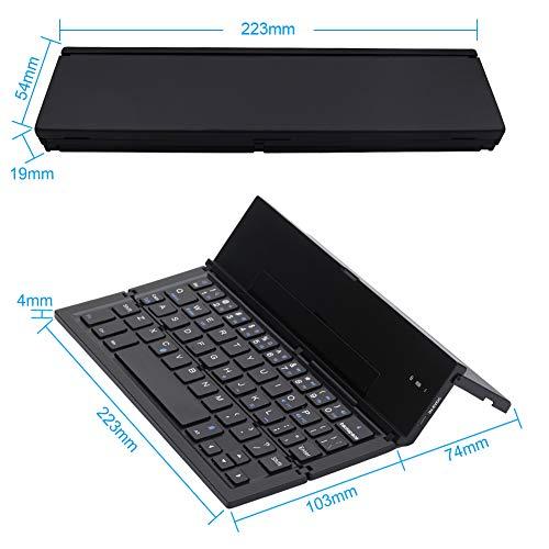 Amazon.com: Teclado plegable Geyes portátil ultra delgado ...