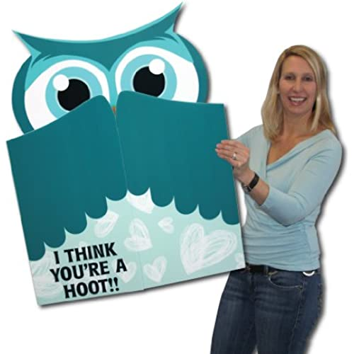 3' x 4' Giant Owl Cut Valentine's Day Card W/Envelope - Perfect Gift for Your Valentine! Sales