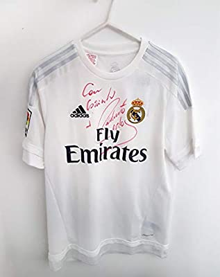 free shipping 8a051 6b39f Real Madrid jersey SIGNED by Roberto Carlos: Amazon.com ...