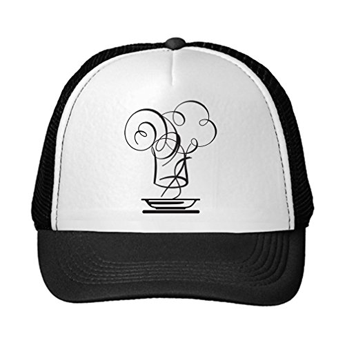 Speedy Pros Chef Hat And Hot Bowl Adjustable High Profile Trucker Hat Cap Black