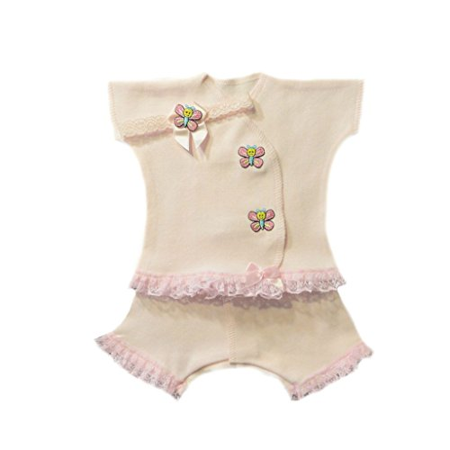 Butterfly Kisses Baby Girl Capri Set (Small Preemie for Babies 3-6 Pounds) - Butterfly Kisses Gift