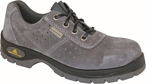 Delta Plus Chaussures–Chaussure perforé en croûte de cuir gris polyuréthane bidensidad S1Taille 44