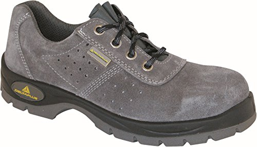 Delta plus calzado - Zapato perforada serraje gris poliuretano bidensidad s1 talla 44