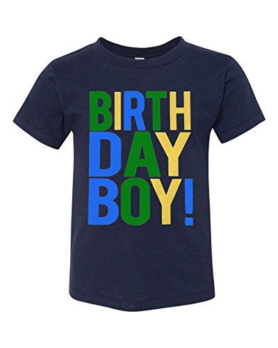 SoRock Birthday Boy Toddler Kids T-Shirt Navy Youth Medium