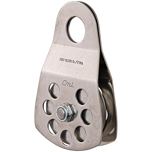 CMI 3'' Single Pulley with Aluminum Sheave and Stainless Steel Sideplates - RP105 by CMI
