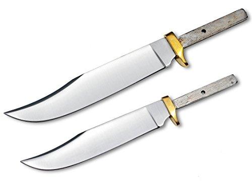 Set of 2 Blades for Knife Making (7 1/2″ & 9″) Mini Hunter Blank Custom Game Hunting Blanks Skinning Knives For Sale