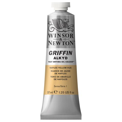 Winsor & Newton Griffin Alkyd Fast Drying Oil Colour Paint, 37ml tube, Naples Yellow Hue