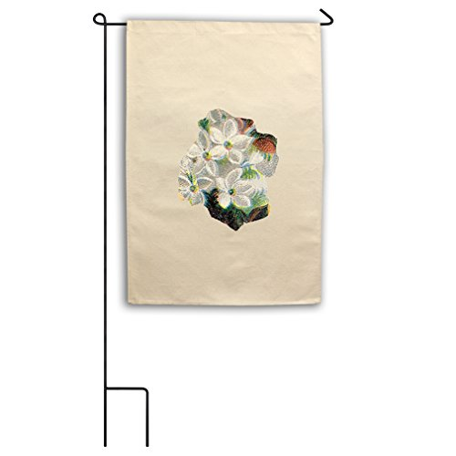 "Style in Print Canvas Yard House Garden Flag 18""X27"" White F"