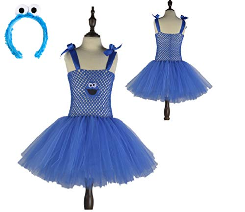 Blue Sesame Cookie Lover Monster Costume Tutu Dress from Chunks of Charm (7)