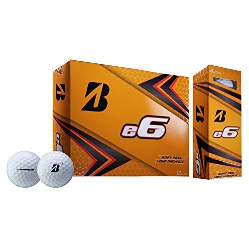 Bridgestone 2019 e6 White Golf Balls (One Dozen) by Bridgestone